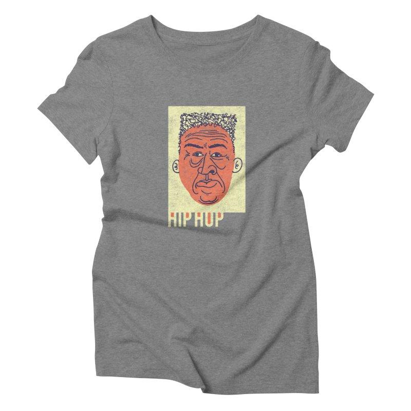 Hip Hop Head Women's Triblend T-shirt by Zach Woomer's Little Shop