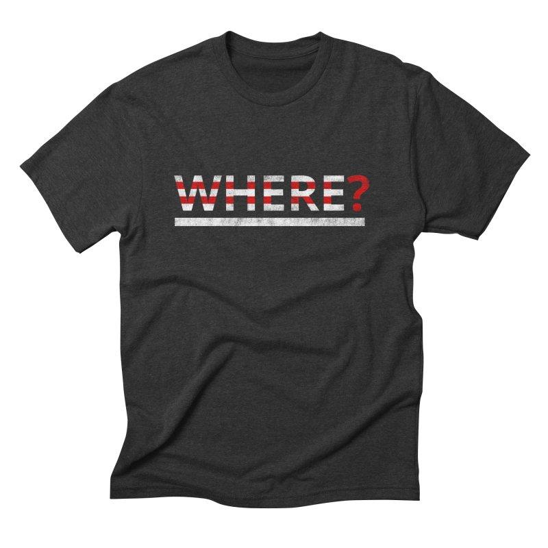 Waldo Men's Triblend T-shirt by Zach Woomer's Little Shop