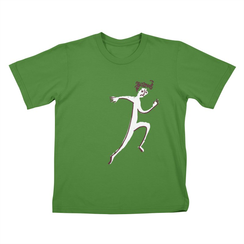 Run. Kids T-Shirt by Zach Woomer's Little Shop