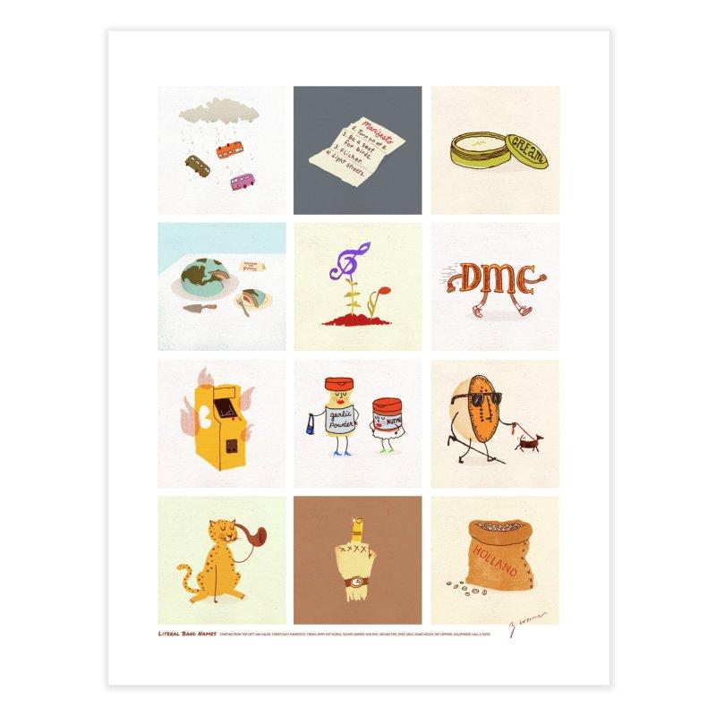 Literal Band Names Home Fine Art Print by Zach Woomer's Little Shop