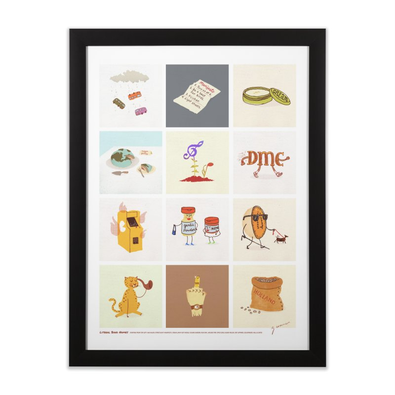 Literal Band Names Home Framed Fine Art Print by Zach Woomer's Little Shop