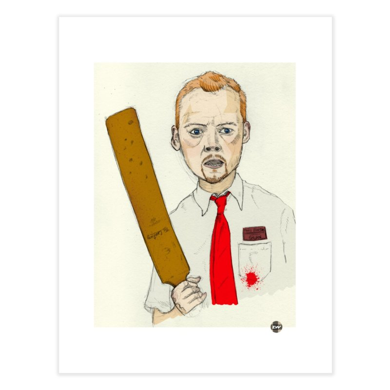 You've Got Red on You Home Fine Art Print by Zach Woomer's Little Shop