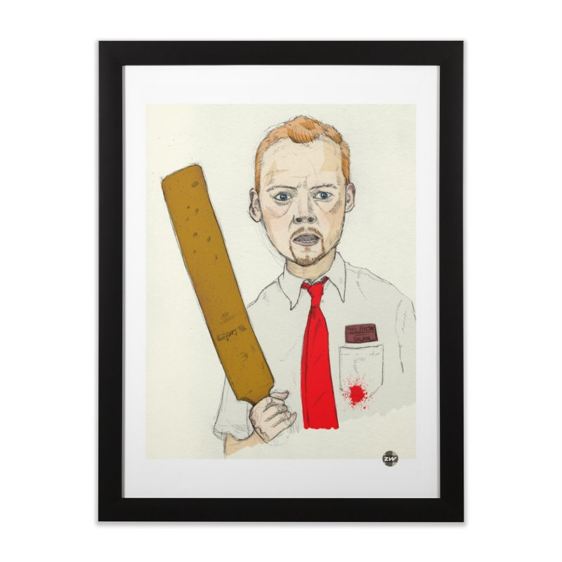 You've Got Red on You Home Framed Fine Art Print by Zach Woomer's Little Shop