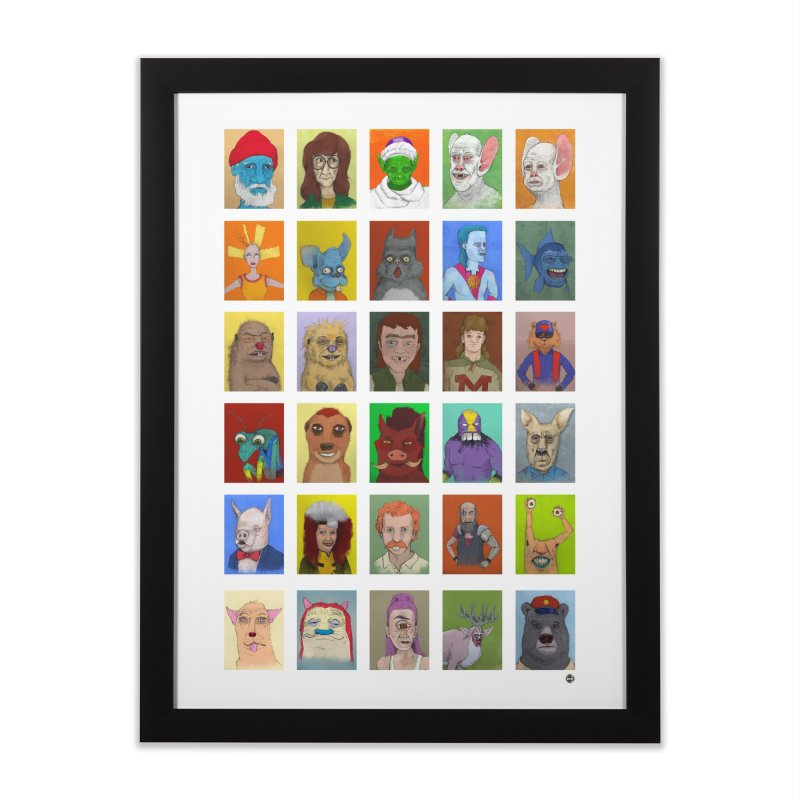 Childhood Home Framed Fine Art Print by Zach Woomer's Little Shop