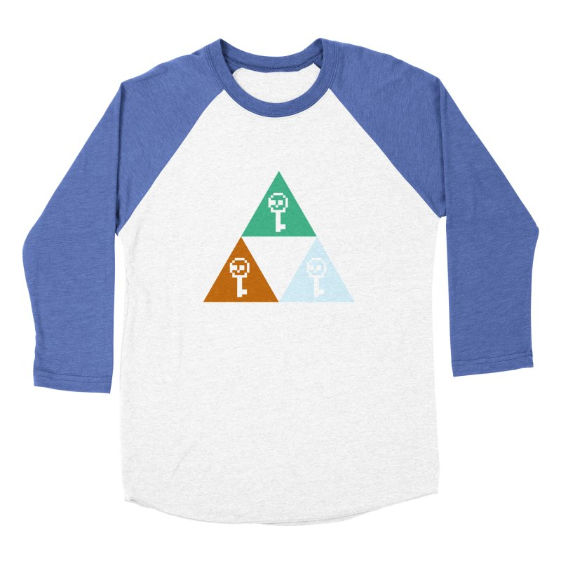 RPO Triforce Men's Baseball Triblend Longsleeve T-Shirt by Zach Woomer's Little Shop