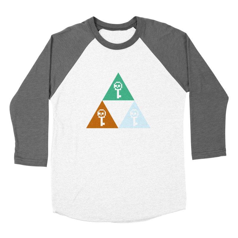 RPO Triforce Men's Baseball Triblend Longsleeve T-Shirt by Zach Woomer's Little Shop