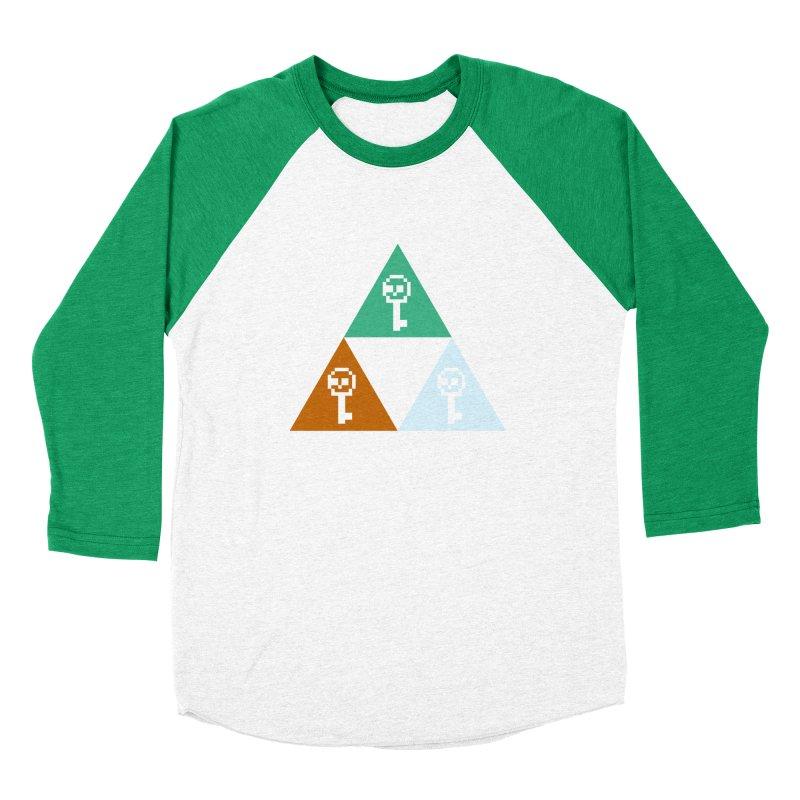 RPO Triforce Men's Baseball Triblend T-Shirt by Zach Woomer's Little Shop