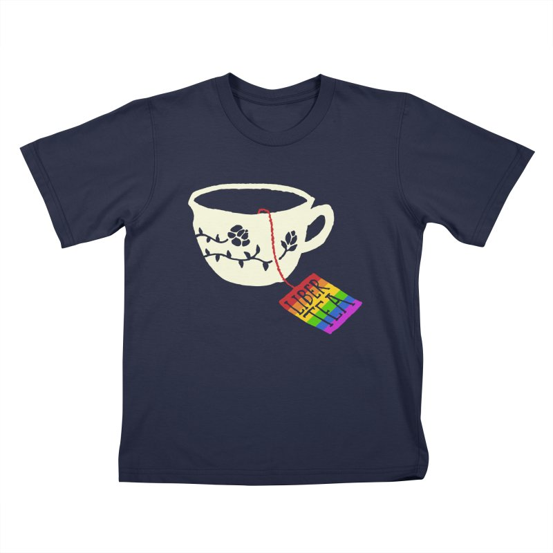 Liber Tea Special Edition Kids T-Shirt by Zach Woomer's Little Shop