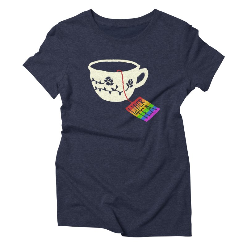 Liber Tea Special Edition Women's Triblend T-shirt by Zach Woomer's Little Shop