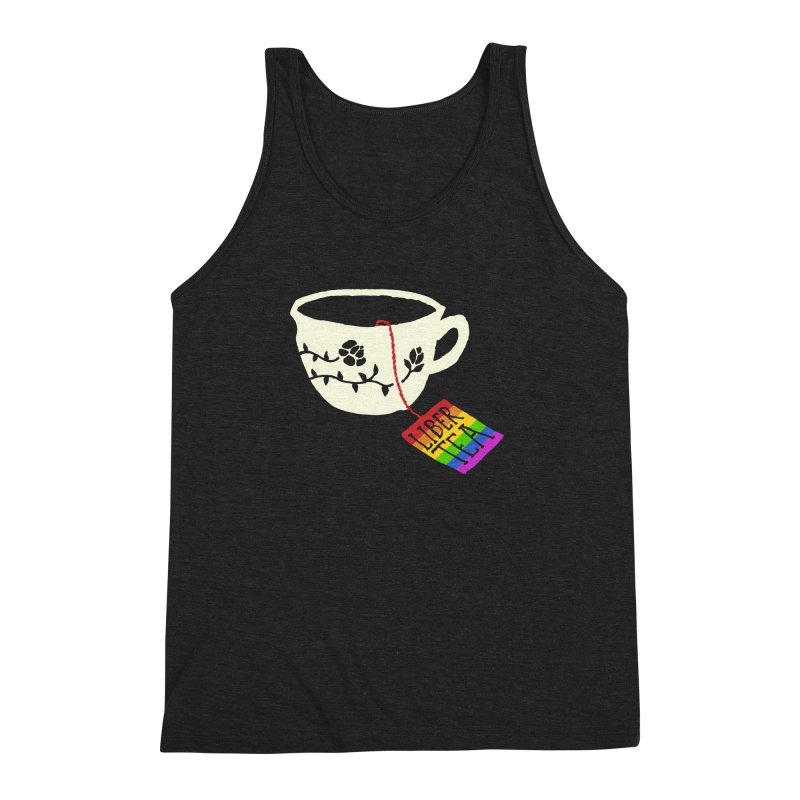 Liber Tea Special Edition Men's Triblend Tank by Zach Woomer's Little Shop