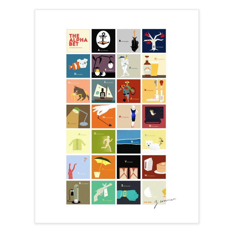 The Alphabet Home Fine Art Print by Zach Woomer's Little Shop