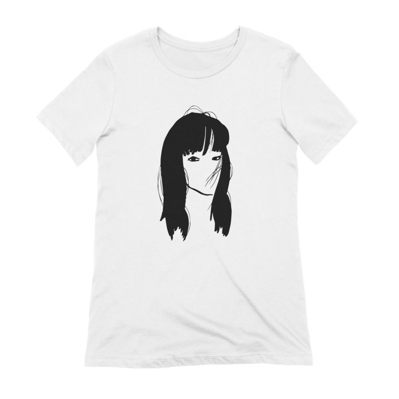 Lady Face 1 Women's Extra Soft T-Shirt by Zach Woomer's Little Shop
