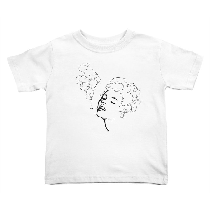 Lady Face 2 Kids Toddler T-Shirt by Zach Woomer's Little Shop