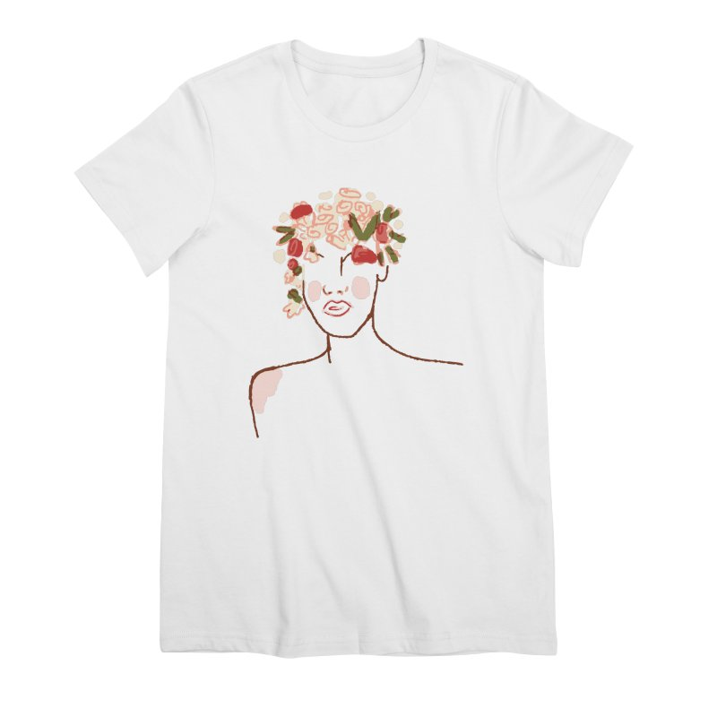 Flower Child Women's Premium T-Shirt by Zach Woomer's Little Shop