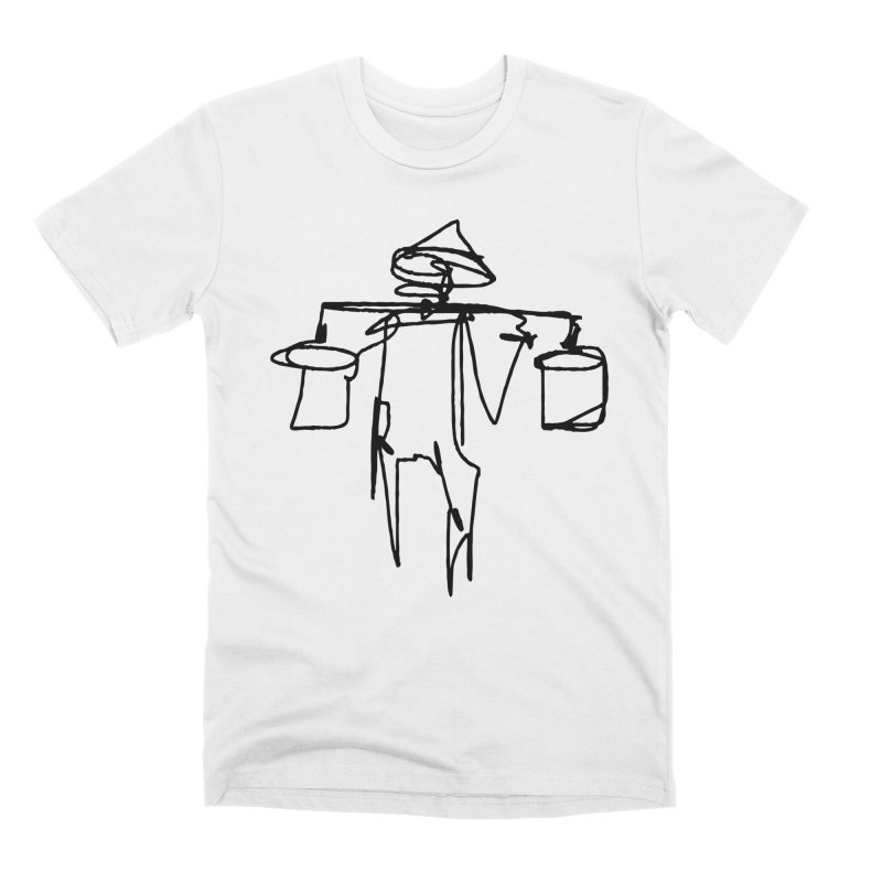 One Line Worker Men's T-Shirt by Zach Woomer's Little Shop