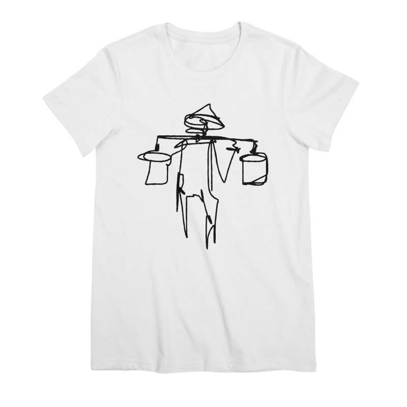One Line Worker Women's Premium T-Shirt by Zach Woomer's Little Shop