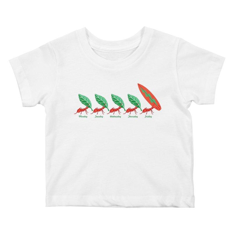Alkmist Surf Weekend Kids Baby T-Shirt by Alkmist's Creative Blends