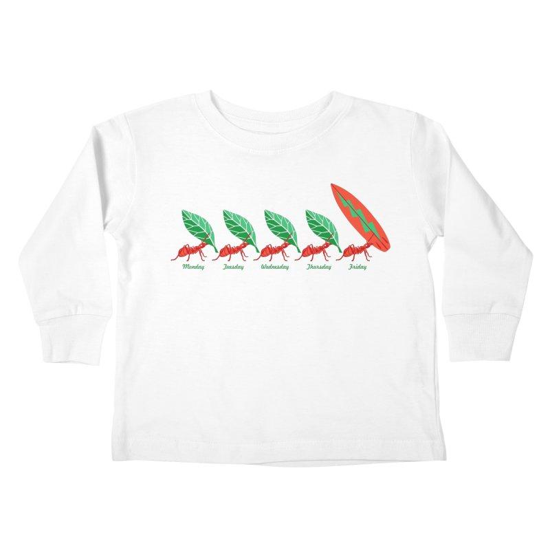 Alkmist Surf Weekend Kids Toddler Longsleeve T-Shirt by Alkmist's Creative Blends
