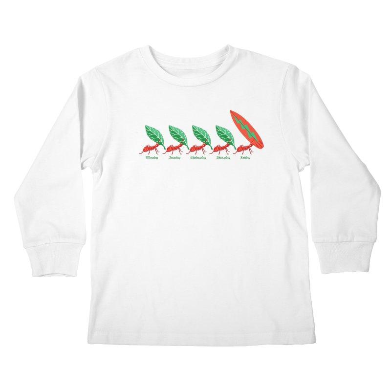 Alkmist Surf Weekend Kids Longsleeve T-Shirt by Alkmist's Creative Blends