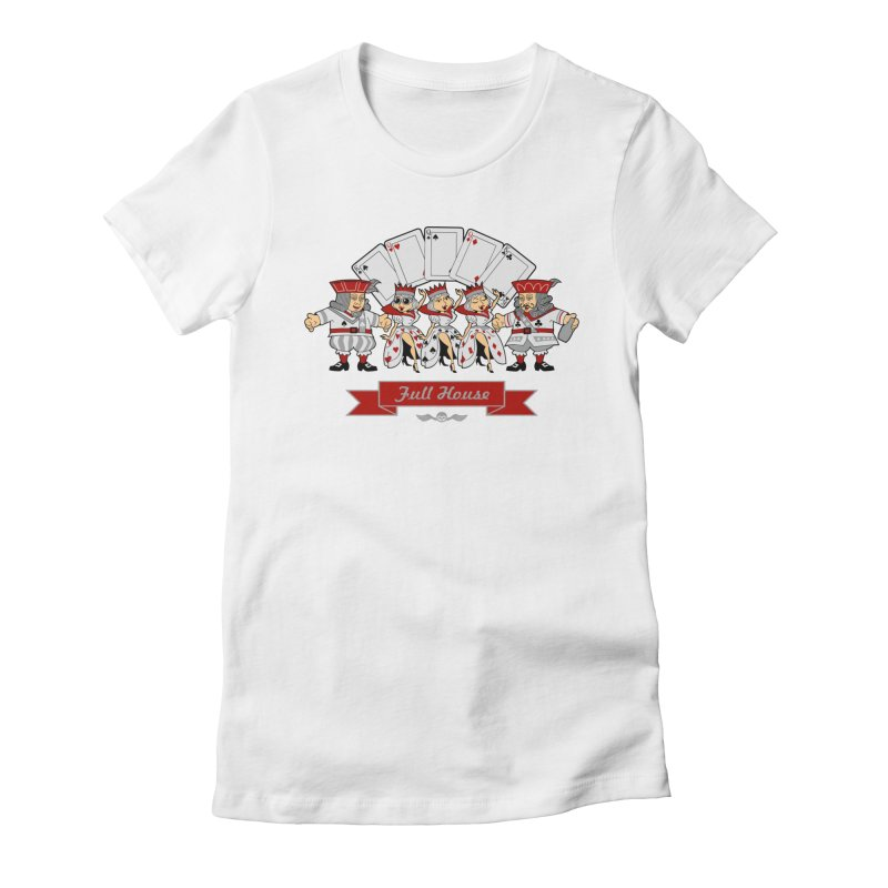 Alkmist Poker Full House Women's Fitted T-Shirt by Alkmist's Creative Blends
