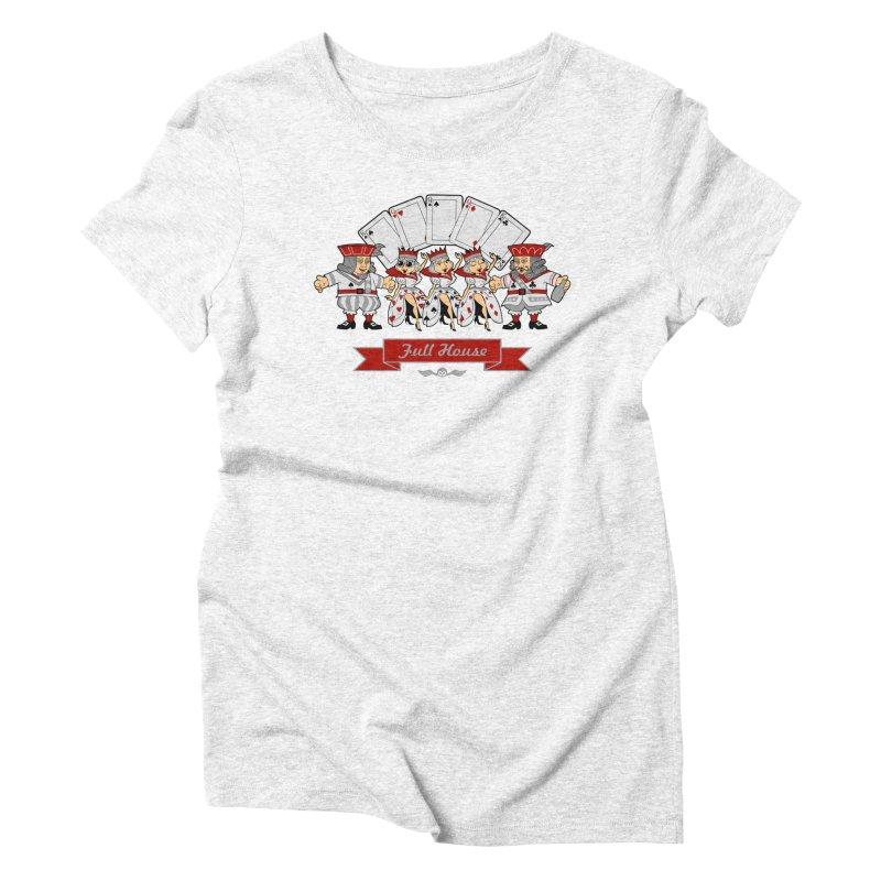 Alkmist Poker Full House Women's Triblend T-shirt by Alkmist's Creative Blends