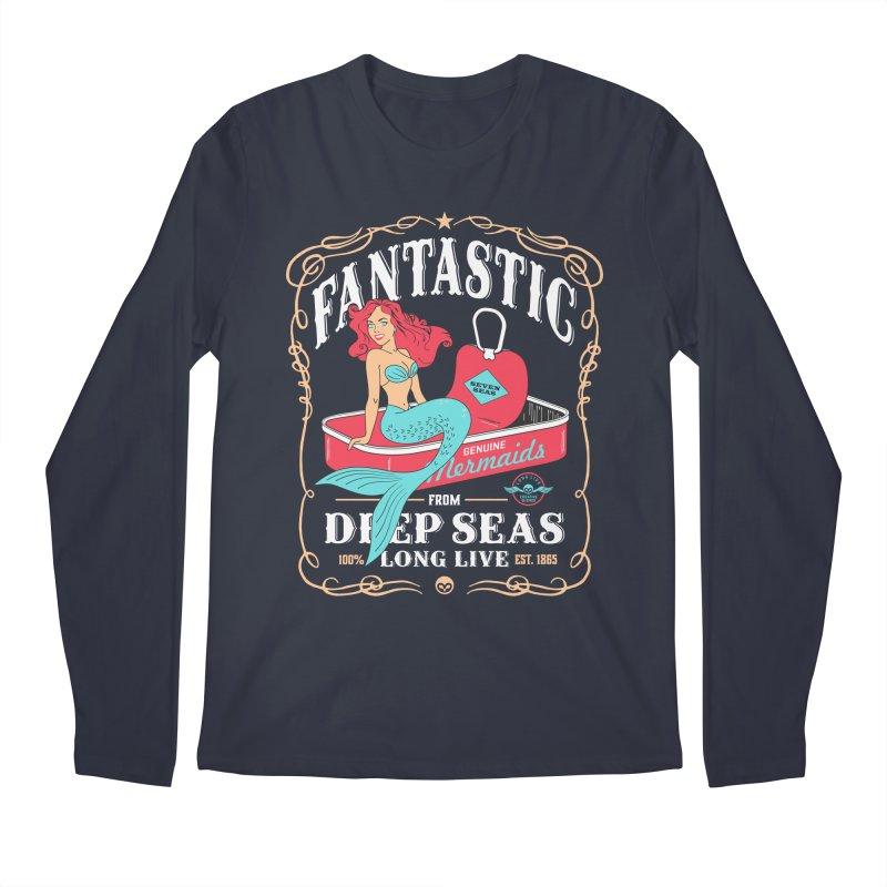 Alkmist Genuine Mermaids Men's Longsleeve T-Shirt by Alkmist's Creative Blends