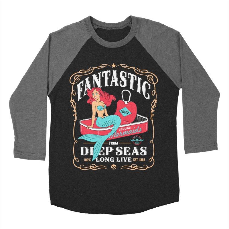 Alkmist Genuine Mermaids Women's Baseball Triblend T-Shirt by Alkmist's Creative Blends