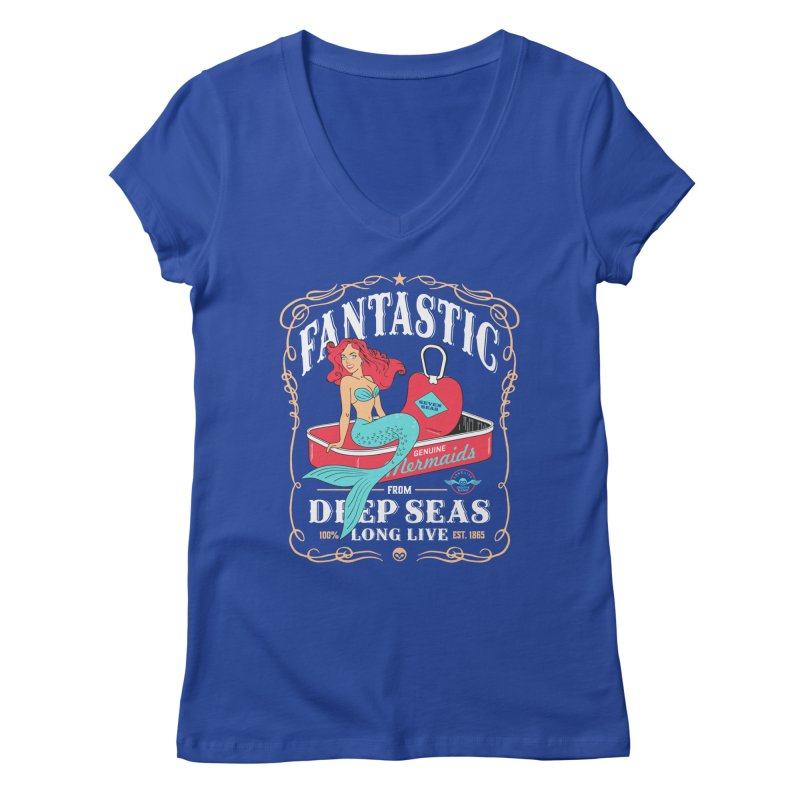 Alkmist Genuine Mermaids Women's V-Neck by Alkmist's Creative Blends