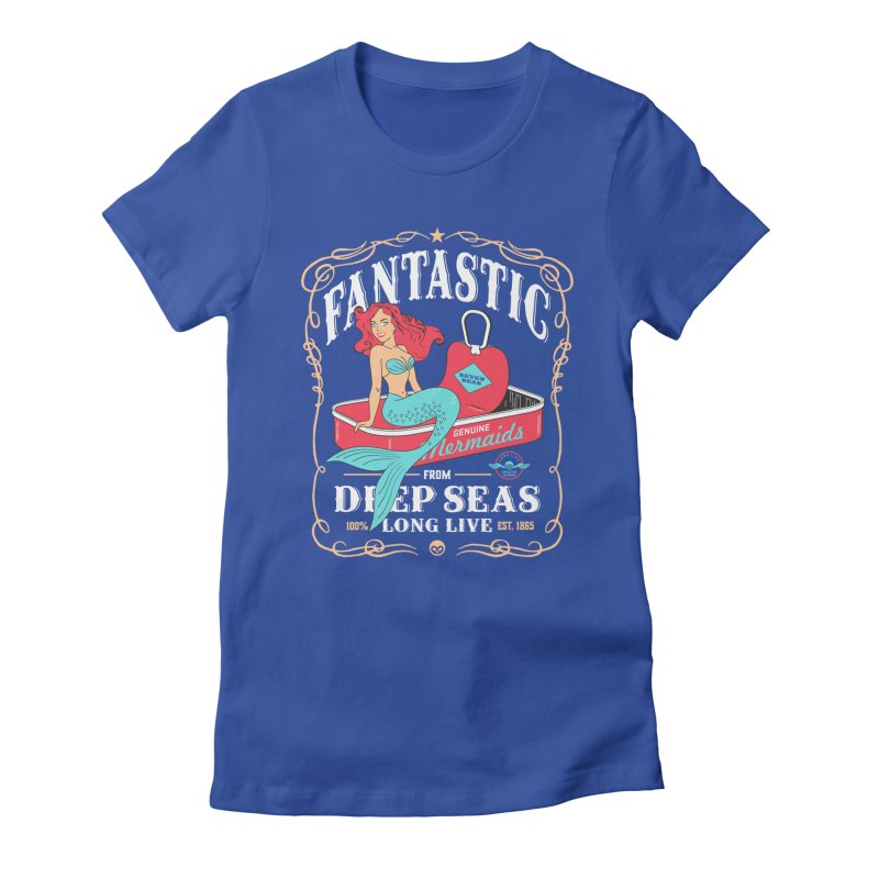 Alkmist Genuine Mermaids Women's Fitted T-Shirt by Alkmist's Creative Blends