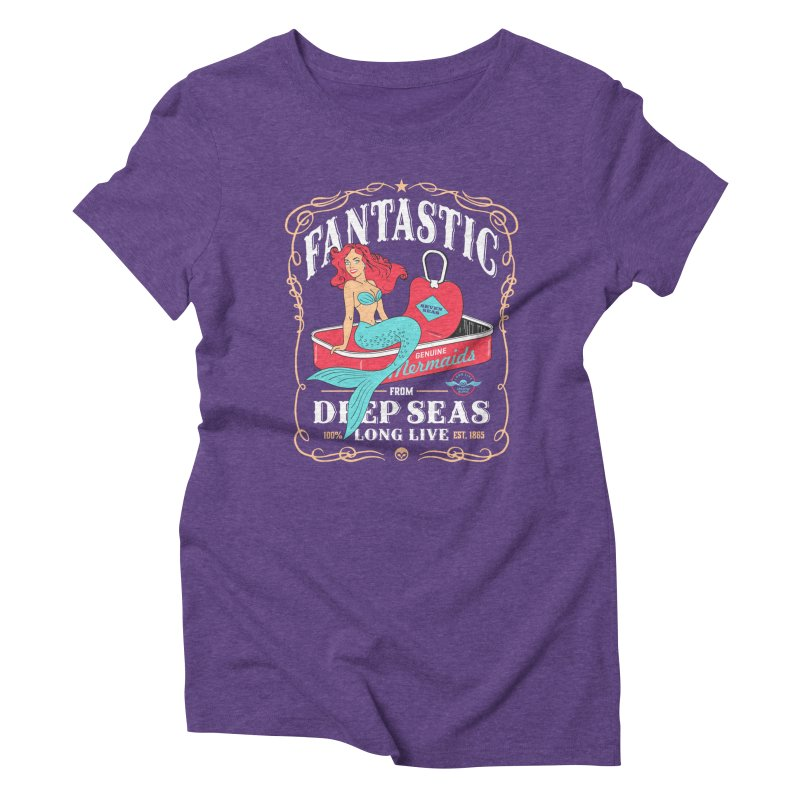 Alkmist Genuine Mermaids Women's Triblend T-Shirt by Alkmist's Creative Blends