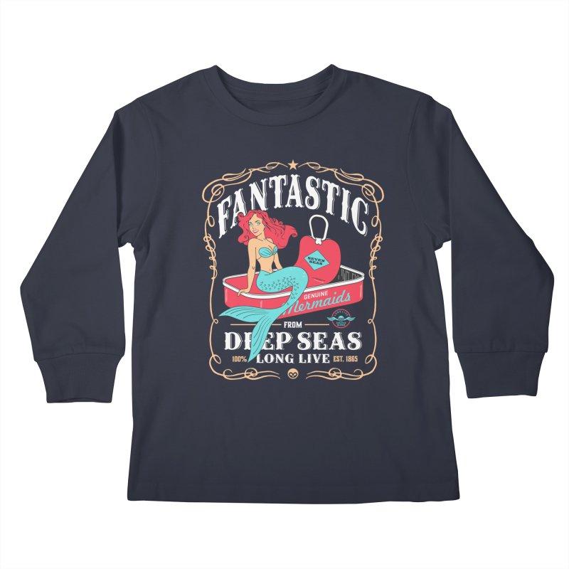Alkmist Genuine Mermaids Kids Longsleeve T-Shirt by Alkmist's Creative Blends