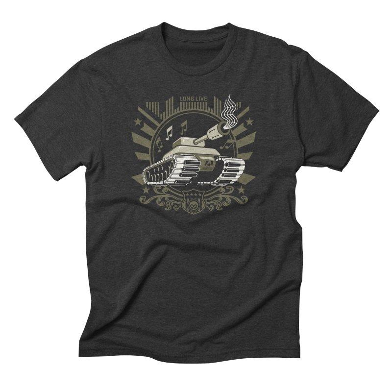 Alkmist Power Music Tank Men's Triblend T-Shirt by Alkmist's Creative Blends
