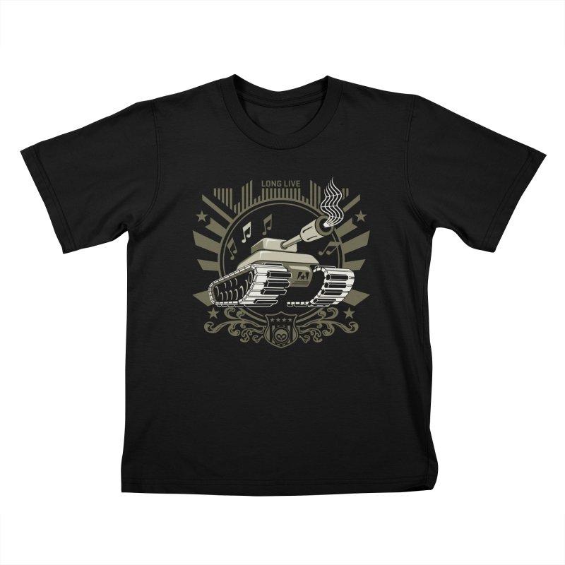 Alkmist Power Music Tank Kids T-shirt by Alkmist's Creative Blends