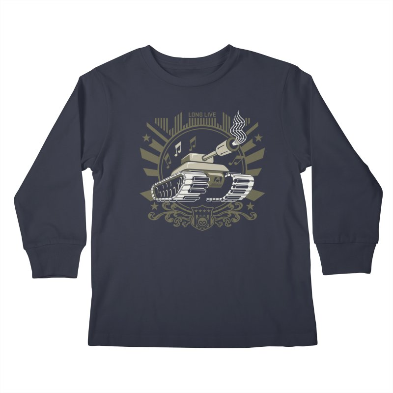 Alkmist Power Music Tank Kids Longsleeve T-Shirt by Alkmist's Creative Blends