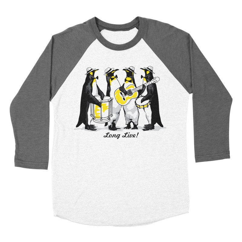 Alkmist Samba Penguins Women's Baseball Triblend T-Shirt by Alkmist's Creative Blends
