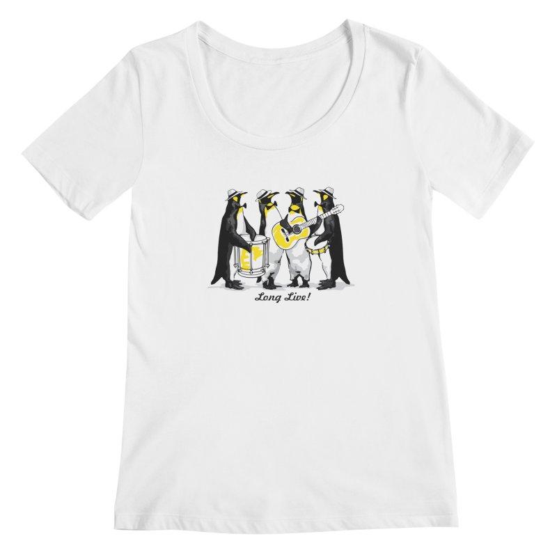 Alkmist Samba Penguins Women's Scoopneck by Alkmist's Creative Blends