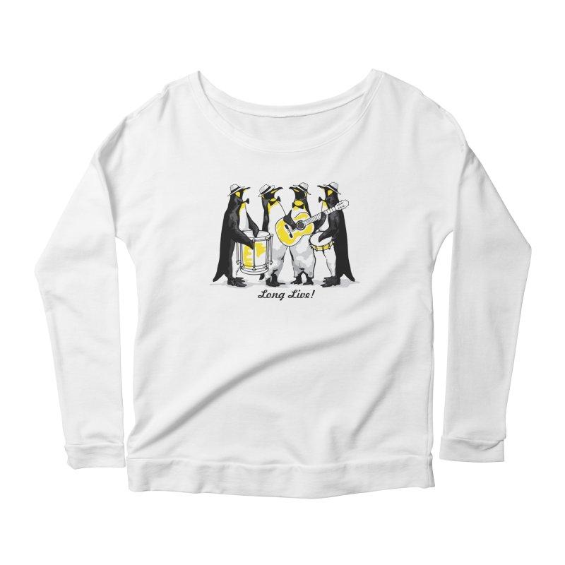 Alkmist Samba Penguins Women's Longsleeve Scoopneck  by Alkmist's Creative Blends