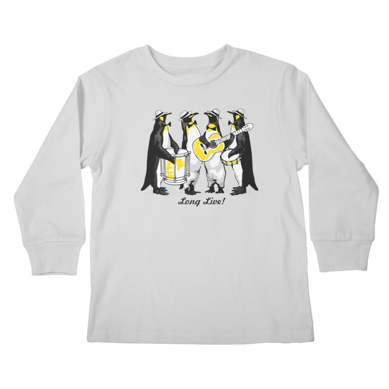 Alkmist Samba Penguins Kids Longsleeve T-Shirt by Alkmist's Creative Blends
