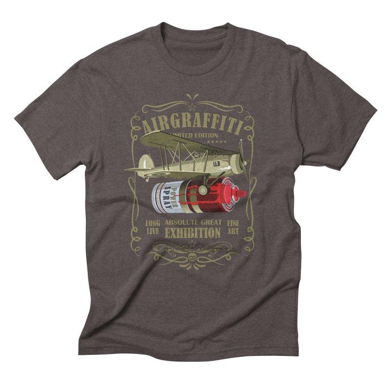 Alkmist Air Graffiti Spray Can Men's Triblend T-Shirt by Alkmist's Creative Blends