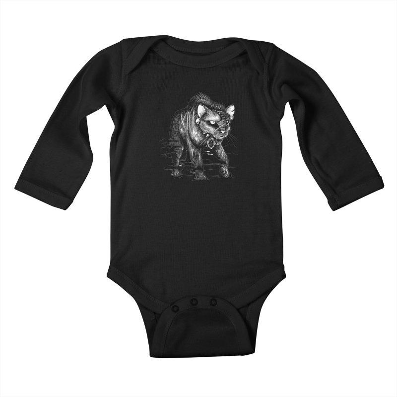 Black cat Kids Baby Longsleeve Bodysuit by allandotson's Artist Shop