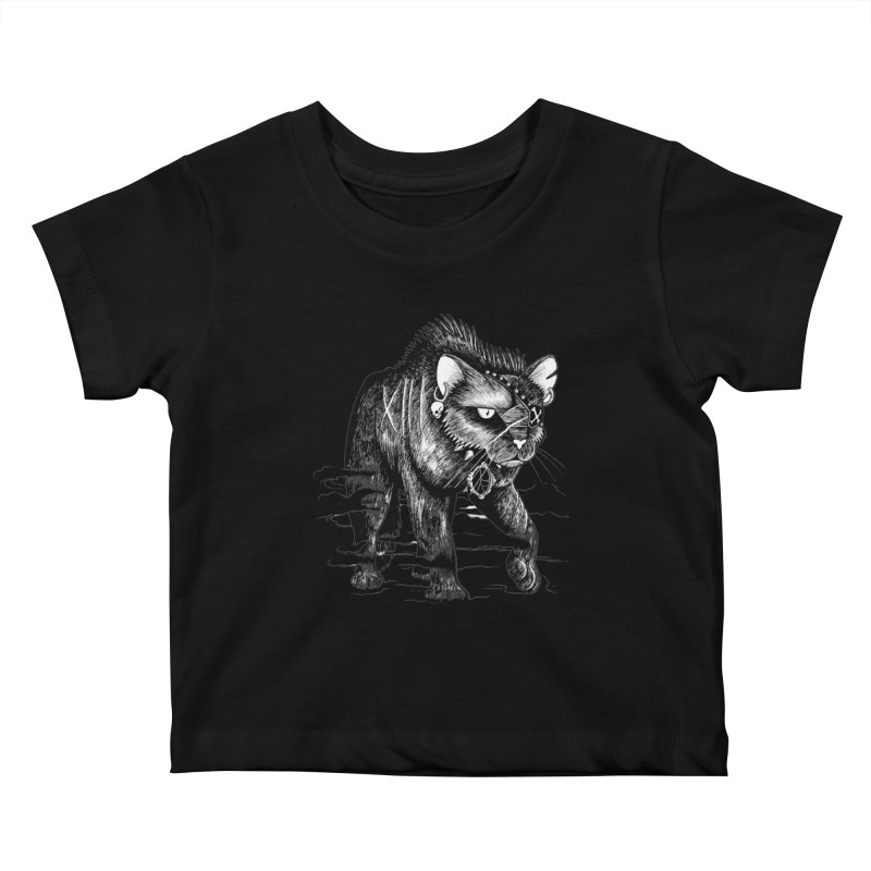 Black cat Kids Baby T-Shirt by allandotson's Artist Shop