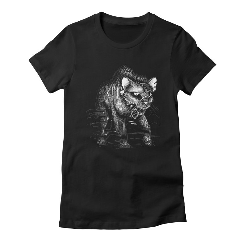 Black cat Women's T-Shirt by allandotson's Artist Shop