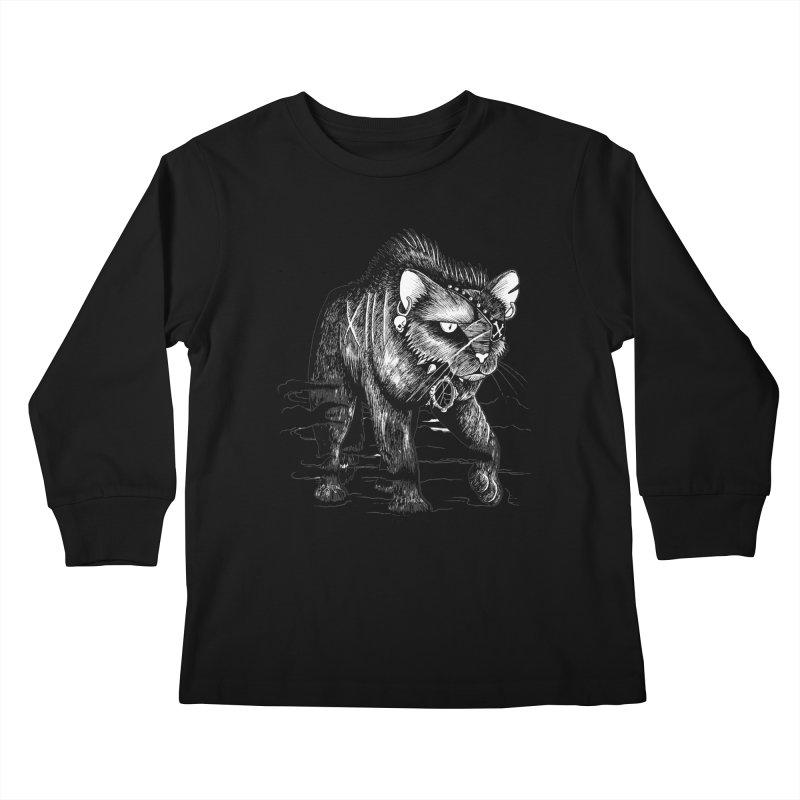 Black cat Kids Longsleeve T-Shirt by allandotson's Artist Shop