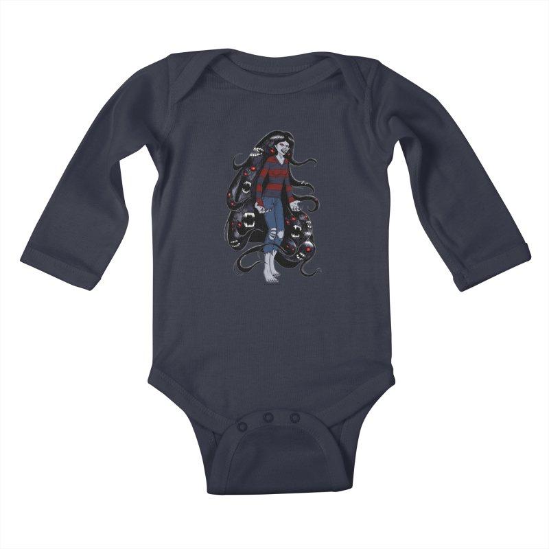 vampire queen Kids Baby Longsleeve Bodysuit by allandotson's Artist Shop