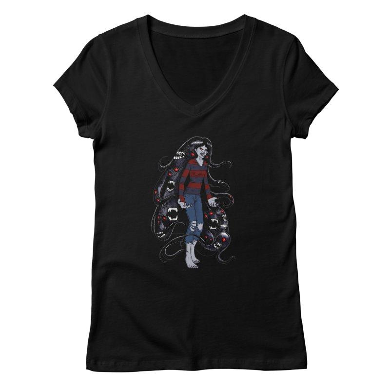 vampire queen Women's V-Neck by allandotson's Artist Shop