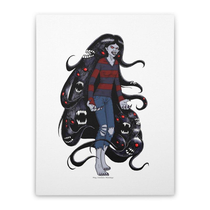 vampire queen Home Stretched Canvas by allandotson's Artist Shop