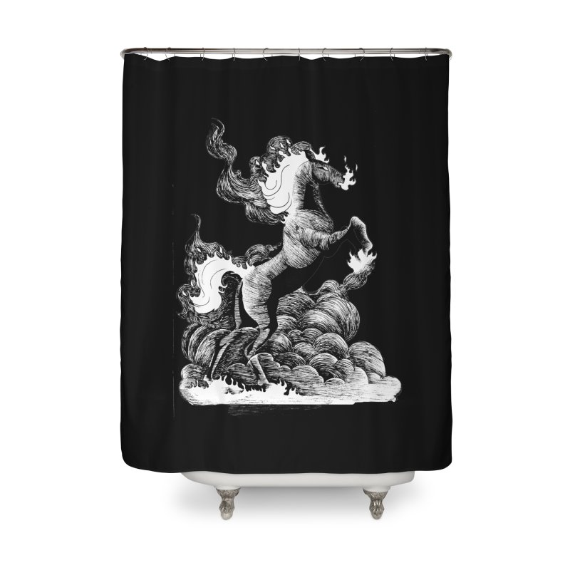 nightmare Home Shower Curtain by allandotson's Artist Shop