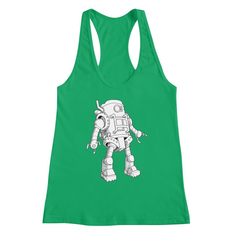 robot Women's Tank by allandotson's Artist Shop