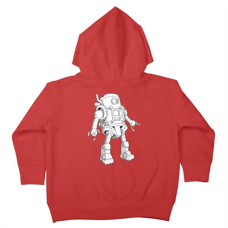robot Kids Toddler Zip-Up Hoody by allandotson's Artist Shop