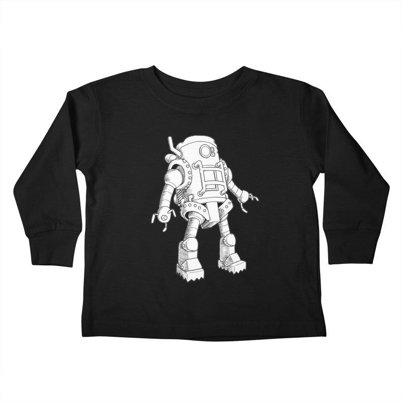 robot Kids Toddler Longsleeve T-Shirt by allandotson's Artist Shop